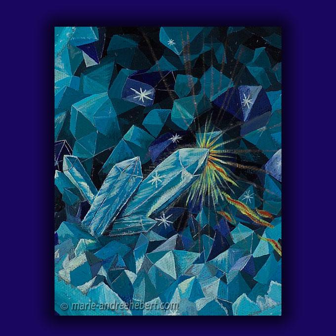 symbiose détails, cristal, cristaux, agathe, pierre