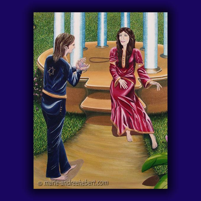 temple d'eternité détails, temple, cristaux, couple, amétyste, améthystes